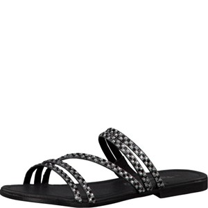 Tamaris-Schuhe-Pantolette-BLACK/SILVER-Art.:1-1-27113-28/093