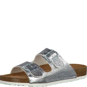 Tamaris-Schuhe-Pantolette-SILVER-METALL.-Art.:1-1-27501-28/933