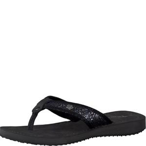 Tamaris-Schuhe-Pantolette-STEEL/BLK.STRU-Art.:1-1-27117-38/215
