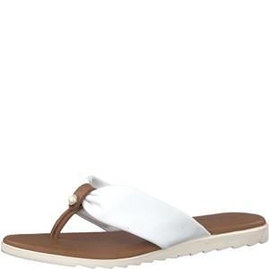 Tamaris-Schuhe-Pantolette-WHITE/COGNAC-Art.:1-1-27129-20/144