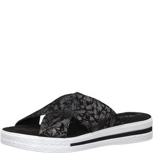 Tamaris-Schuhe-Pantolette-BLACK/PEWTER-Art.:1-1-27230-20/050