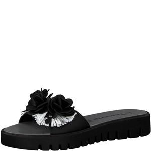 Tamaris-Schuhe-Pantolette-BLACK/WHITE-Art.:1-1-27121-20/005