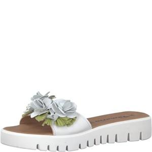 Tamaris-Schuhe-Pantolette-WHITE/GREEN-Art.:1-1-27121-20/175