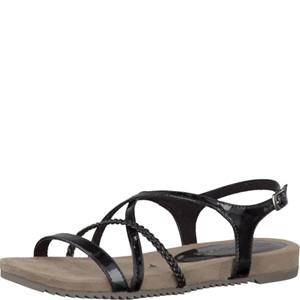 Tamaris-Schuhe-Sandalette-BLACK-PATENT-Art.:1-1-28106-28/018