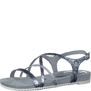 Tamaris-Schuhe-Sandalette-SILVER-STRUCT.-Art.:1-1-28106-28/927