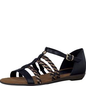 Tamaris-Schuhe-Sandalette-BLACK/BRONCE-Art.:1-1-28108-28/028