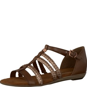 Tamaris-Schuhe-Sandalette-COGNAC/METAL.-Art.:1-1-28108-28/363