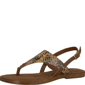 Tamaris-Schuhe-Sandalette-COGNAC-COMB-Art.:1-1-28119-28/392
