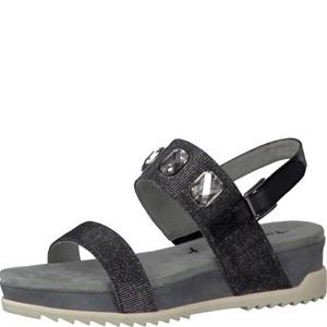 Tamaris-Schuhe-Sandalette-BLACK-GLAM-Art.:1-1-28210-28/047