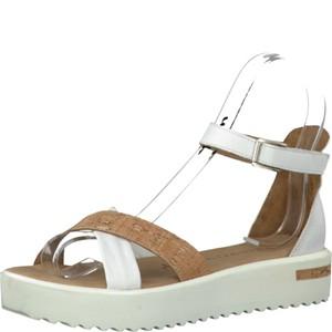 Tamaris-Schuhe-Sandalette-WHITE/CORK-Art.:1-1-28214-28/140