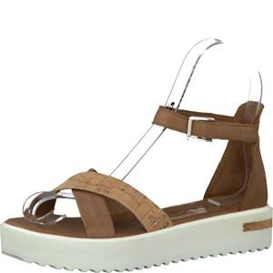 Tamaris-Schuhe-Sandalette-COGNAC/CORK-Art.:1-1-28214-28/356