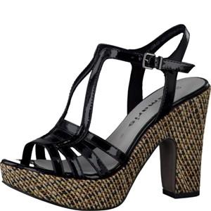 Tamaris-Schuhe-Sandalette-BLK-PAT./SISAL-Art.:1-1-28334-28/055