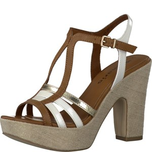Tamaris-Schuhe-Sandalette-COGNAC-COMB-Art.:1-1-28334-28/392