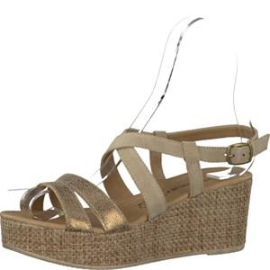 Tamaris-Schuhe-Sandalette-NATURE/GOLD-Art.:1-1-28341-28/390