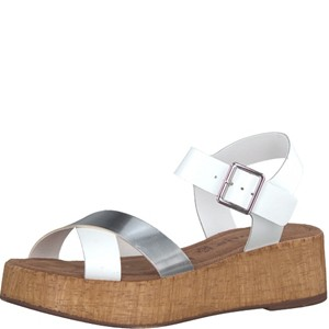 Tamaris-Schuhe-Sandalette-WHITE/SILVER-Art.:1-1-28352-28/191