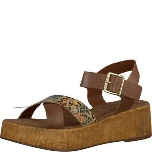 Tamaris-Schuhe-Sandalette-COGNAC-COMB-Art.:1-1-28352-28/392