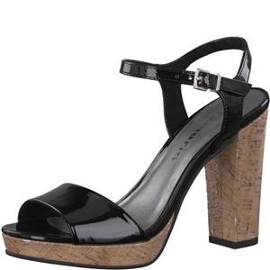 Tamaris-Schuhe-Sandalette-BLACK-PATENT-Art.:1-1-28002-38/018