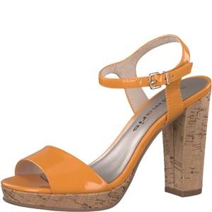 Tamaris-Schuhe-Sandalette-ORANGE-PATENT-Art.:1-1-28002-38/607