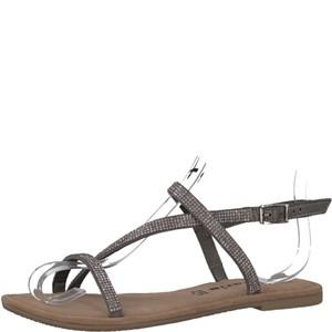 Tamaris-Schuhe-Sandalette-PEWTER-METALL.-Art.:1-1-28143-38/926