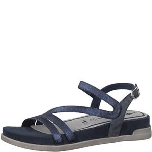 Tamaris-Schuhe-Sandalette-NAVY-METALLIC-Art.:1-1-28221-38/824