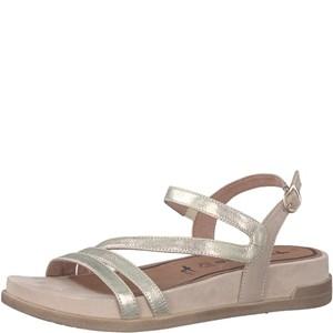 Tamaris-Schuhe-Sandalette-LIGHT-GOLD-Art.:1-1-28221-38/909
