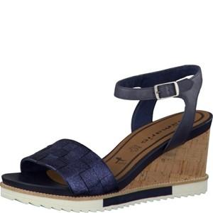 Tamaris-Schuhe-Sandalette-NAVY-METALLIC-Art.:1-1-28381-38/824