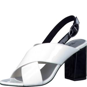 Tamaris-Schuhe-Sandalette-WHT-PT/BLK-PT-Art.:1-1-28395-38/103