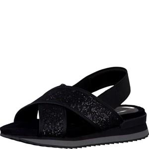 Tamaris-Schuhe-Sandalette-BLK-GLAM/BLACK-Art.:1-1-28703-38/092