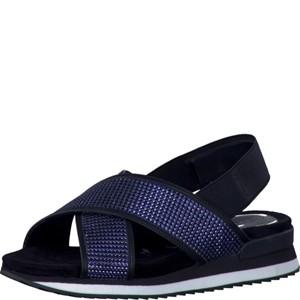 Tamaris-Schuhe-Sandalette-NT.BLUE-GL/BLK-Art.:1-1-28703-38/893