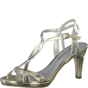 Tamaris-Schuhe-Sandalette-LT.GOLD/SILVER-Art.:1-1-28024-38/992