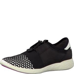 Tamaris-Schuhe-Schnürer-BLACK/WHITE-Art.:1-1-23722-28/005