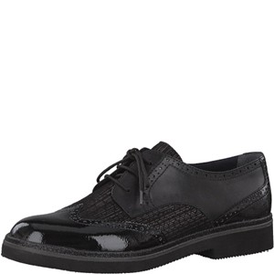 Tamaris-Schuhe-Schnürer-BLACK/PEWTER-Art.:1-1-23711-29/061