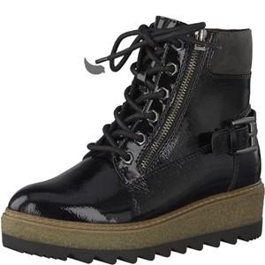 Tamaris-Schuhe-Schnürer-BLACK-PATENT-Art.:1-1-25220-29/018