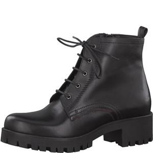 Tamaris-Schuhe-Schnürer-BLACK/BORDEAUX-Art.:1-1-25279-29/086