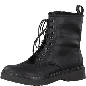 Tamaris-Schuhe-Schnürer-BLACK-PLAIN-Art.:1-1-25717-39/060