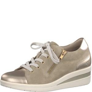 Tamaris-Schuhe-Schnürer-L.BEIGE/L.GOLD-Art.:1-1-23755-20/431
