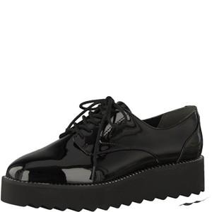 Tamaris-Schuhe-Schnürer-BLACK-PATENT-Art.:1-1-23724-21/018