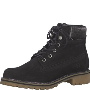 Tamaris-Schuhe-Schnürer-BLACK-METALLIC-Art.:1-1-25272-21/033