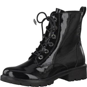 Tamaris-Schuhe-Schnürer-BLACK-PATENT-Art.:1-1-25280-21/018