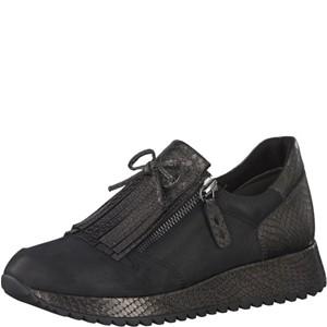 Tamaris-Schuhe-Slipper-BLK/PEWTER-STR-Art.:1-1-24701-39/011