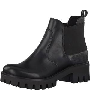 Tamaris-Schuhe-Stiefelette-BLK/PLAT.STRU.-Art.:1-1-25441-29/013