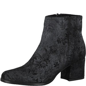 Tamaris-Schuhe-Stiefelette-BLACK-STRUCT.-Art.:1-1-25063-39/006