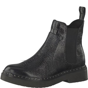 Tamaris-Schuhe-Stiefelette-BLACK-STRUCT.-Art.:1-1-25953-39/006