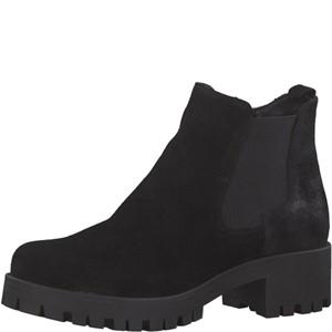 Tamaris-Schuhe-Stiefelette-BLACK/BLK-MET.-Art.:1-1-25435-21/091