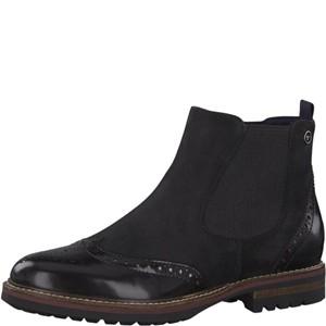 Tamaris-Schuhe-Stiefelette-BLACK-NUBUC-Art.:1-1-25437-21/008