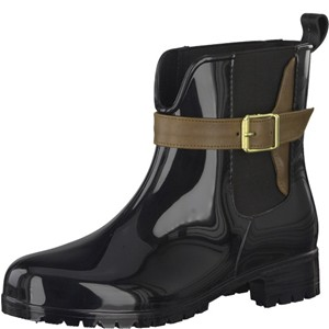 Tamaris-Schuhe-Stiefelette-BLACK/COGNAC-Art.:1-1-25410-21/023