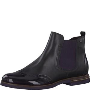 Tamaris-Schuhe-Stiefelette-BLACK/PLUM-Art.:1-1-25027-31/054
