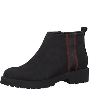 Tamaris-Schuhe-Stiefelette-BLACK/BORDEAUX-Art.:1-1-25069-31/086