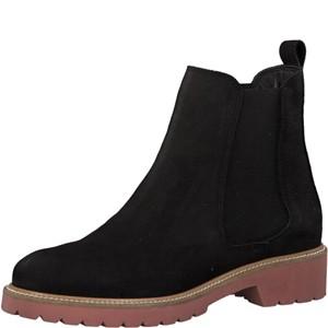 Tamaris-Schuhe-Stiefelette-BLACK/RED-Art.:1-1-25438-31/055