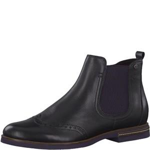 Tamaris-Schuhe-Stiefelette-BLACK-UNI/PLUM-Art.:1-1-25027-31/053